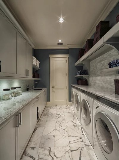 Transitional Laundry Room by Busby Cabinets