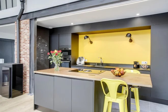 Industrial Kitchen by BO HOME DESIGN