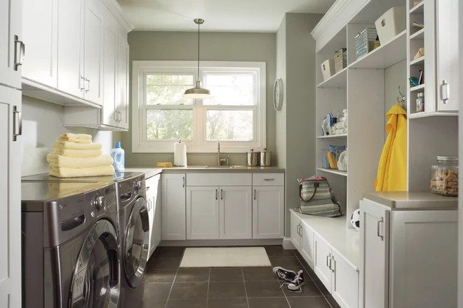 Transitional Laundry Room by Pro Stone Kitchen and Bath, LLC