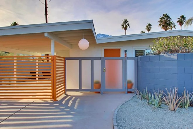 Midcentury Exterior by www.flippingdiaries.com