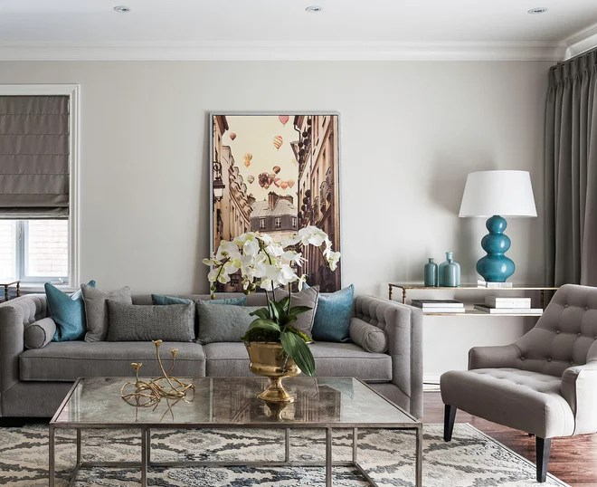 Transitional Living Room by Leona Mozes Photography