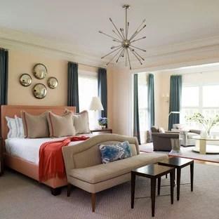 Peach Bedroom Ideas And Photos Houzz