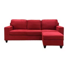 50 most popular red sectional sofas for