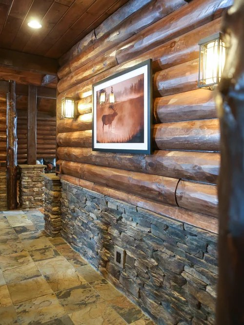 Interior Pictures Of Log Paneling And Log Siding
