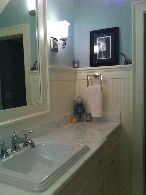 Powder Room Beadboard Houzz