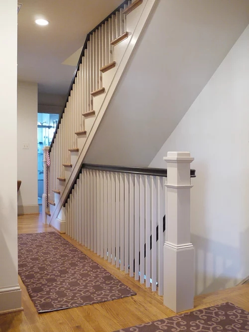 Open Basement Stair Home Design Ideas Pictures Remodel | Adding Stairs To Basement