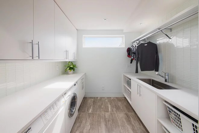 Contemporary Laundry Room by Design First Interiors