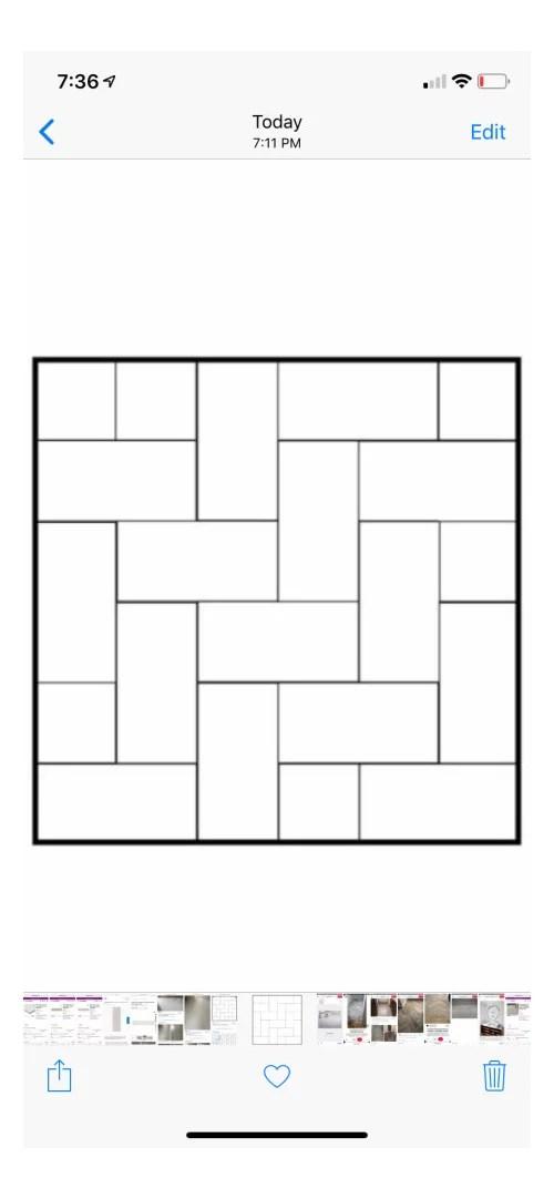12x24 tile layout