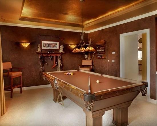 Modern Pool Table In Living Room Ideas