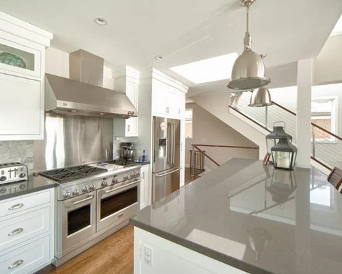 White Cabinet Gray Countertop Home Design Ideas Pictures