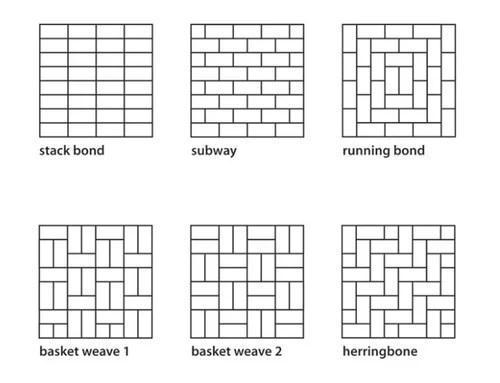 subway tile vertical horizontal