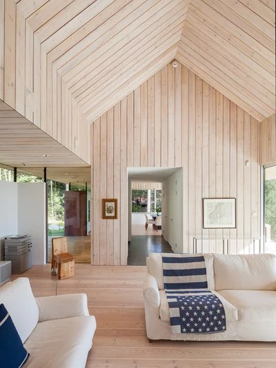 Scandinavian Living Room by Michael Perlmutter Architectural Photography