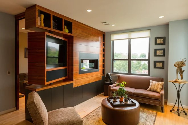 Contemporary Family Room by Aesthetic Answers