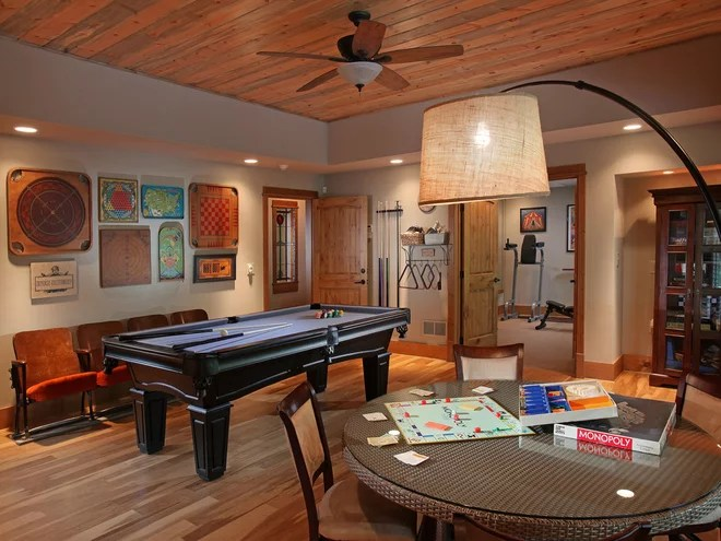 Traditional Family Room by Modern Rustic Homes