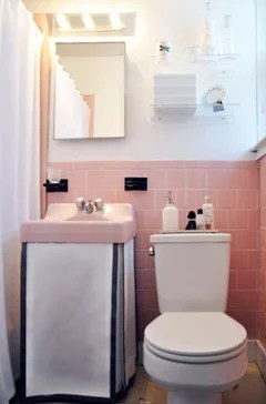 a pink tile bathroom without remodeling