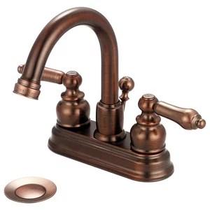 classic antique brass centerset sink