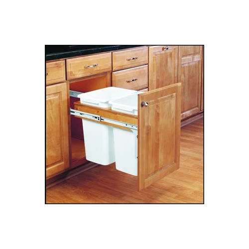 kitchen trash cans built into cabinets