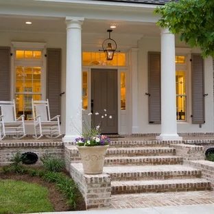 Front Step Ideas Houzz | Stone Front Porch Steps Designs | House | Stained Concrete | Round | Stone Walkway | Flagstone