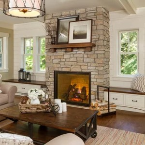75 Traditional Living Room Design Ideas   Stylish Traditional Living     Mid sized elegant open concept medium tone wood floor living room photo in  Minneapolis with