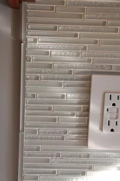 finish edges of glass tile backsplash