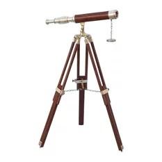 Floor Standing Br Wood Galileo Telescope 65 Nautical Decor Telesc