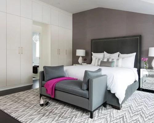 gray bedroom bench | houzz