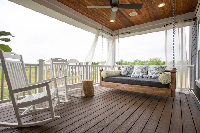 Transitional Porch by Romanelli & Hughes Custom Home Builders