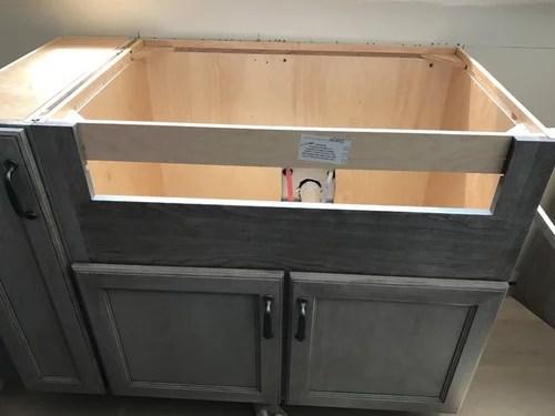 how to mount farm sink blanco ikon