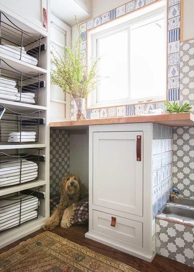 Beach Style Laundry Room by STEFANI STEIN