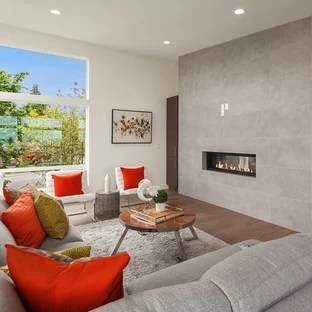 75 Most Popular Contemporary Living Room Design Ideas for 2018     Living room   contemporary living room idea in Seattle