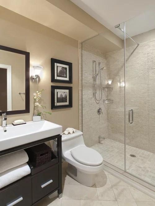 Contemporary Bathroom Idea In Toronto With A Vessel Sink