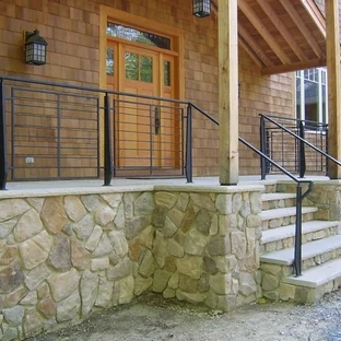 Modern Front Porch Railings Ideas Photos Houzz | Outdoor Front Step Railings | Metal | Deck | Brick | Capozzoli Stairworks | Wood