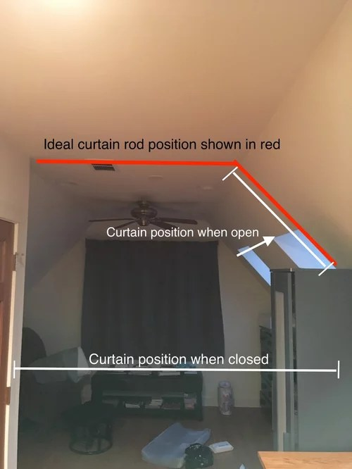 hanging a curtain room divider for