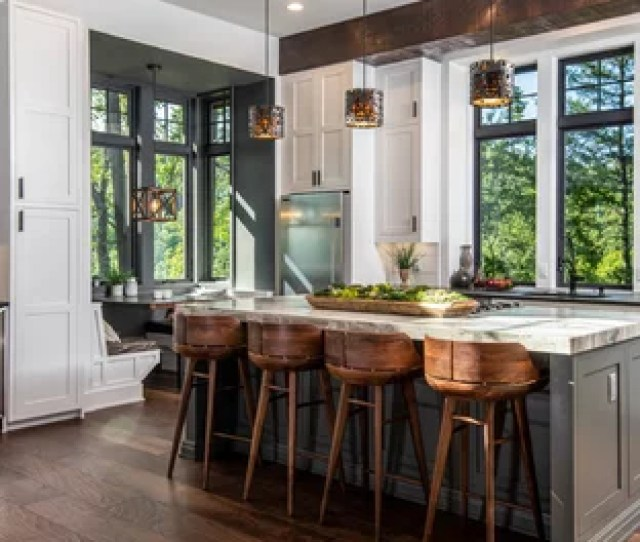 Large Rustic Eat In Kitchen Designs Inspiration For A Large Rustic L Shaped Save Photo