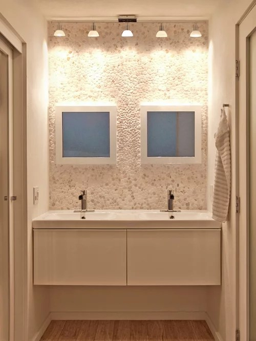 river rock bathroom | houzz