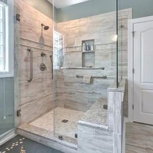 75 Most Popular Bathroom With Raised Panel Cabinets Design