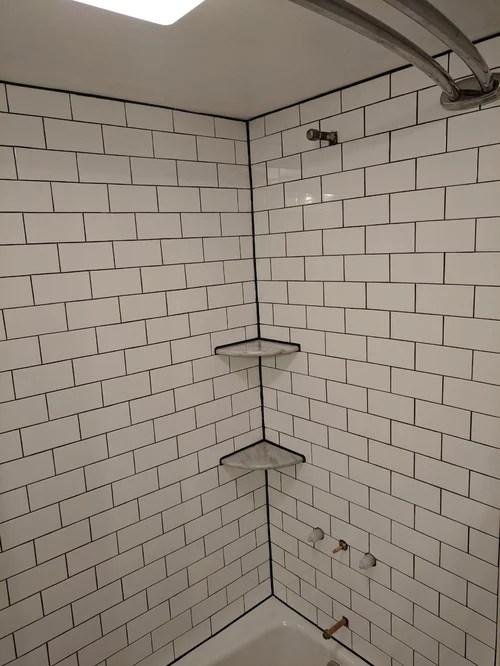 bathroom shower grout caulking