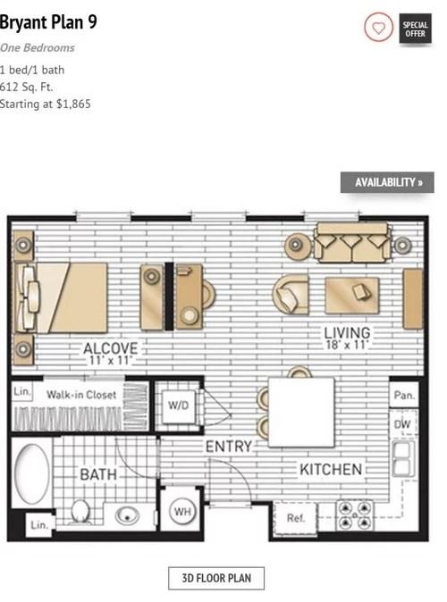 Furnish A Junior One Bedroom Apartment