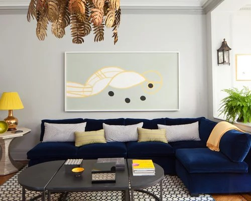 Decorating A Blue Couch Houzz