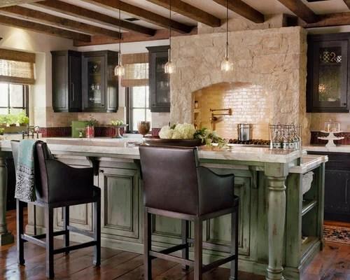 Classy Green Kitchen Island Green Island Houzz Decorating