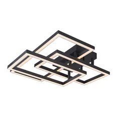 50 Most Popular Modern Flush Mount Ceiling Lights for 2018   Houzz VONN   Radium 28  Integrated LED Rectangular Ceiling Light Fixture    Flush mount Ceiling