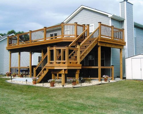 Deck Designs Two Story House