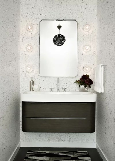 Contemporary Powder Room Modern Powder Room