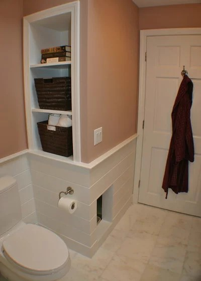 Transitional Bathroom by Artisan Kitchens Inc.