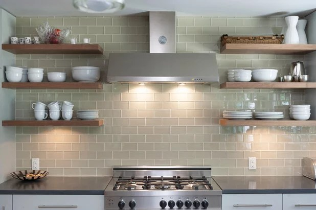 Image result for open shelving kitchen