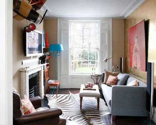 Elegant Formal Brown Floor Living Room Photo In London With Beige Walls A Standard Fireplace