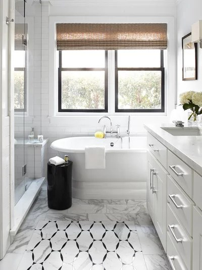 Traditional Bathroom by Urrutia Design