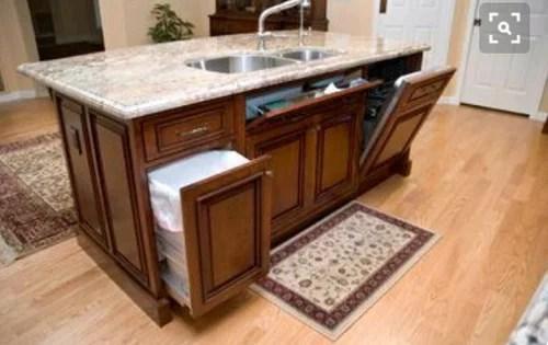 flat kitchen island or step up island