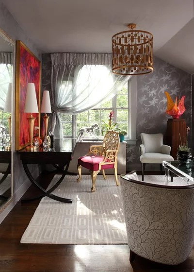 Eclectic Home Office by BAK Interiors