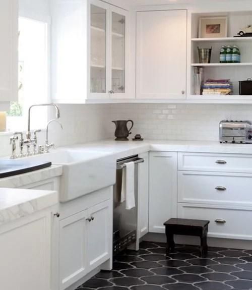 hex tile kitchen floor